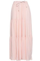 Dkny Woman Gathered Twill Maxi Skirt Blush