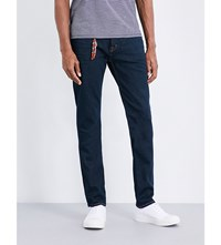 7 For All Mankind Slimmy American Slim Fit Straight Jeans Deep Blue