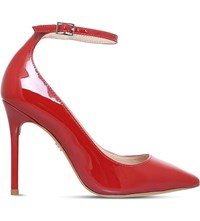 Kg By Kurt Geiger Estha Patent Leather Courts Red