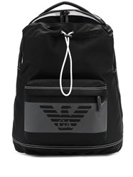 Emporio Armani Eagle Logo Backpack Black