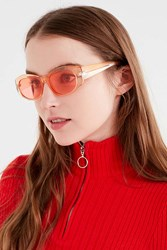 Urban Outfitters Candy Squared Oval Sunglasses Peach