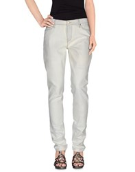 Marc By Marc Jacobs Denim Denim Trousers Women Ivory
