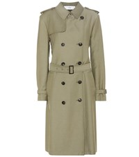 Closed Clubmoss Twill Trench Coat Green
