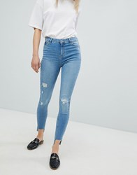 Urban Bliss Distressed Ripped Skinny Jean In Light Wash Light Wash Blue