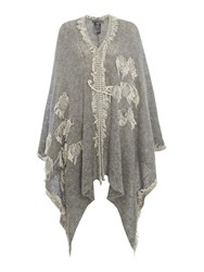 Crea Concept Fringed Wrap Grey