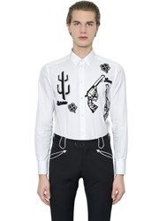 Dolce And Gabbana Western Patches Cotton Poplin Shirt