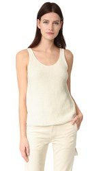 Vince Textured Knit Tank Off White