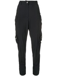 Red Valentino Tapered Cargo Trousers Black