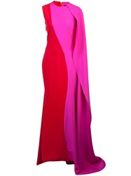 Christian Siriano Cascading Draped Gown Pink