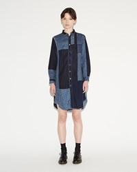 Kapital Patchwork Katmandu Dress Blue
