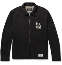 Wacko Maria Embroidered Twill Jacket Black