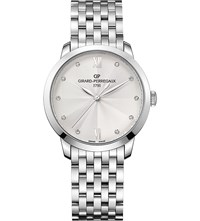 Girard Perregaux 49523 11 171 11A 1966 Stainless Steel Silver And Diamond Watch