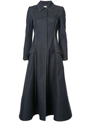 Carolina Herrera Midi Coat Blue