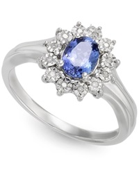 Macy's Tanzanite 1 2 Ct. T.W. And Diamond Accent Ring In 10K White Gold