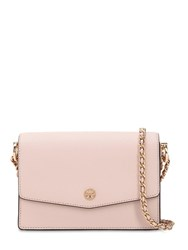 Tory Burch Mini Robinson Leather Shoulder Bag Pink