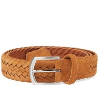 Andersons Anderson's Woven Suede Belt Brown