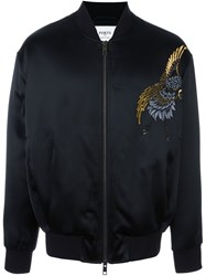 Ports 1961 Embroidered Bomber Jacket Black