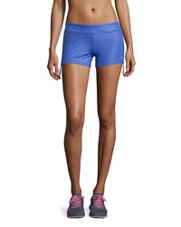 Alo Yoga Sweat It Trunk Shorts Blue Glossy