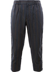 08Sircus Striped Cropped Trousers Blue