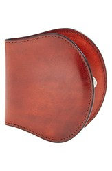 Men's Bosca 'Old Leather' Coin Purse Brown Cognac
