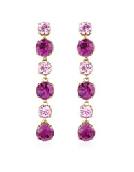 A Z Collection Pink And Amethyst Drop Earrings