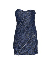 Jay Ahr Short Dresses Blue