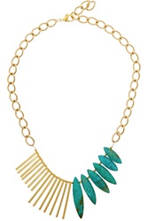Gemma Redux Gold Plated Turquoise Necklace