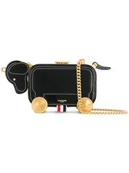 Thom Browne Hector Bag With Chain Shoulder Strap In Calf Leather Leather Black