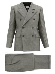 Maison Martin Margiela Double Breasted Wool Suit Black White