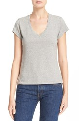 Re Done Women's X Hanes '1960S Slim' V Neck Tee