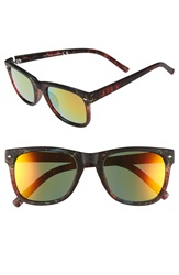 Topman Rubberized Tortoise Shell Sunglasses Brown Multi
