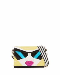 Betsey Johnson Kitsch Face Crossbody Bag Multi