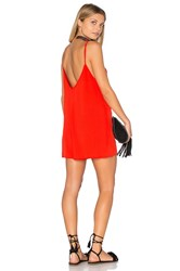 Eight Sixty Cami Romper Red