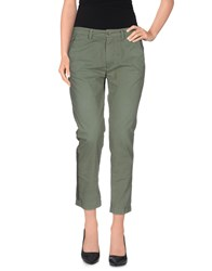 40Weft Trousers 3 4 Length Trousers Women Light Yellow