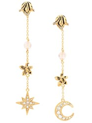 Alberta Ferretti Star And Moon Earrings Gold