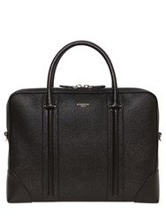 Givenchy Pebbled Leather Briefcase W Logo Detail