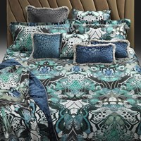Roberto Cavalli Flying Wings Bed Set Light Blue