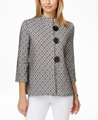 Jm Collection Printed Three Quarter Sleeve Jacket Only At Macy's