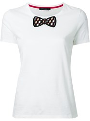 Loveless Bow Detail T Shirt White