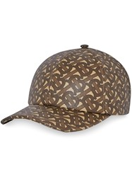 Burberry Coated Monogram Print Baseball Cap Brown