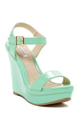 Elegant Footwear Cheri Wedge Sandal Green