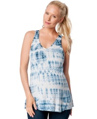 A Pea In The Pod Maternity Tie Dyed Tank Top Indigo Tie Dye