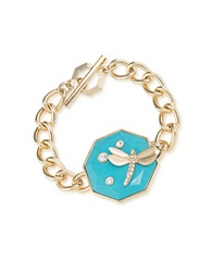 Carolee Dragonfly Toggle Bracelet Blue