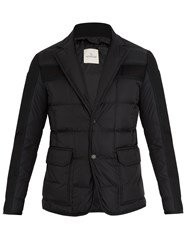 Moncler Ardenne Layered Quilted Down Coat Black