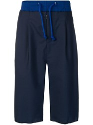 Maison Martin Margiela Panelled Drop Crotch Shorts Blue