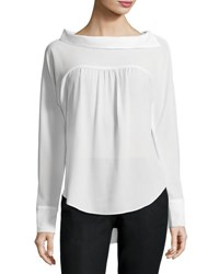 Amadi Evelyn Chiffon Blouse Ivory