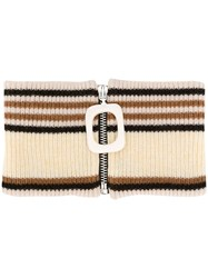 J.W.Anderson Jw Anderson Zipped Striped Neckband 60