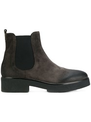 Strategia Worn Effect Ankle Boots Grey