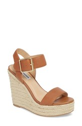 775aaafe1962 Steve Madden Santorini Espadrille Wedge Sandal Cognac Leather