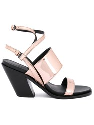 A.F.Vandevorst Diagonal Heel Strappy Sandals Pink Purple